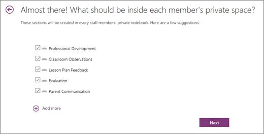 Blocnotes pentru cadre didactice Specificați ce este personal pe secțiuni