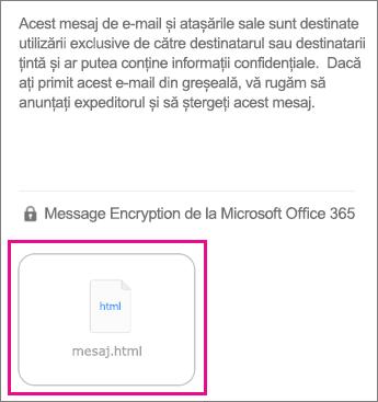 Vizualizator OME pentru iOS aplicația Mail 1
