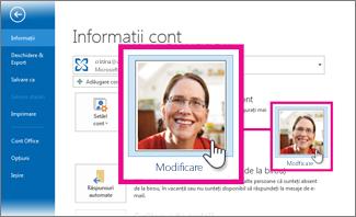 Modificarea imaginii proprii pentru Office de Outlook