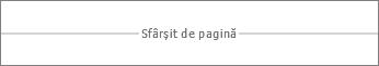 Sfârșit de pagină în Word Online