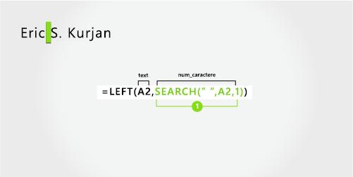Formulă pentru separarea unui Prenume și a unui nume, plus inițiala din mijloc