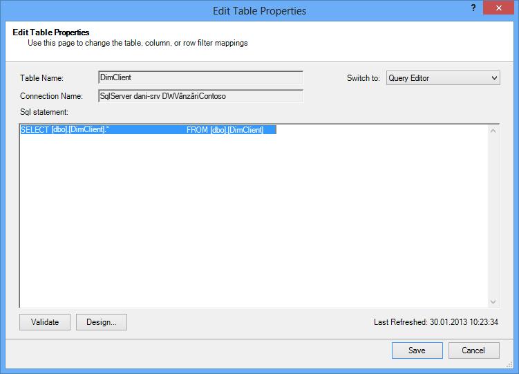 Interogarea SQL utilizând sintaxa implicită, mai scurtă