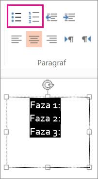 Modificați textul în marcatori