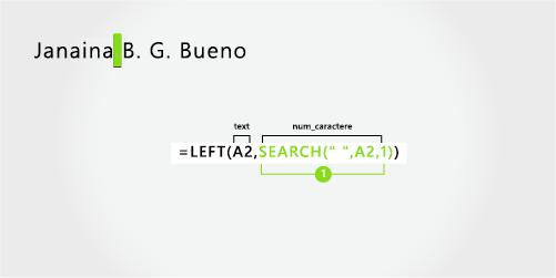 Formulă pentru separarea unui prenume, nume și a două inițiale de mijloc