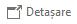 În panoul de citire Outlook, selectați  Detașare în partea de sus a mesajului și apoi veți putea să utilizați meniul Inserare.