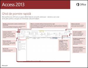 Ghidul de pornire rapidă Access 2013