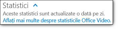 Statistici pentru Office 365 Video