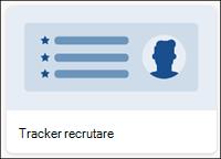 Șablon de listă de urmărire a recrutării