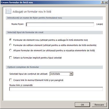 Formulare SharePoint Designer