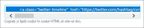 Twitter căutare HTML cod