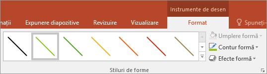 Afișează Stiluri rapide ale liniei din Office