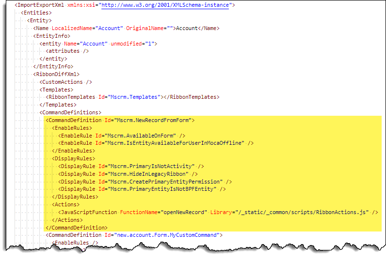 Command Checker - Command - Invalid JavaScript Action Library - XML