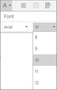 Mărime font