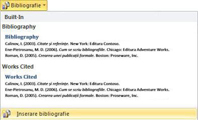 Click Insert Bibliography
