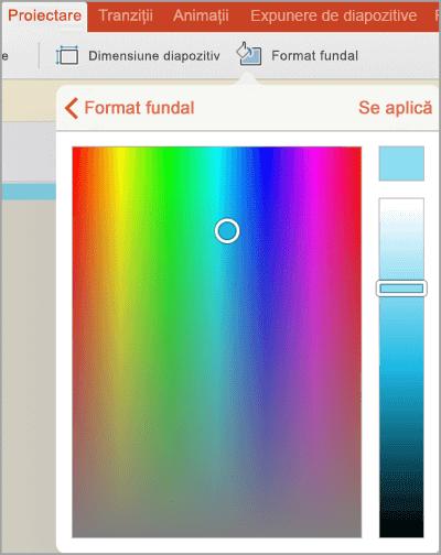Culori de fundal particularizate