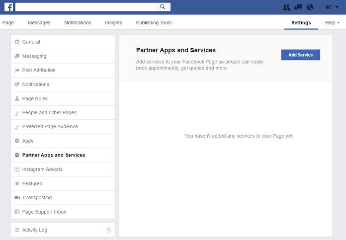 Panoul partener aplicații și servicii