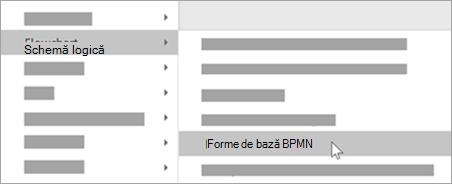 Adăugați BPMN forme de bază la forme.
