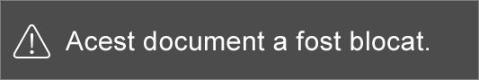 Mesajul pe care îl vedeți atunci când încercați să editați un fișier restricționat