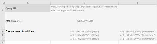 Un exemplu de funcție FILTERXML