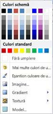 Opțiuni de umplere formă WordArt din Publisher 2010