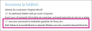 """Opțiuni generale pentru utilizatorul autentificat dacă este bifată opțiunea """"Se păstrează datele mele pe acest computer"""""""