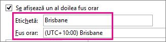 fusul orar din Brisbane