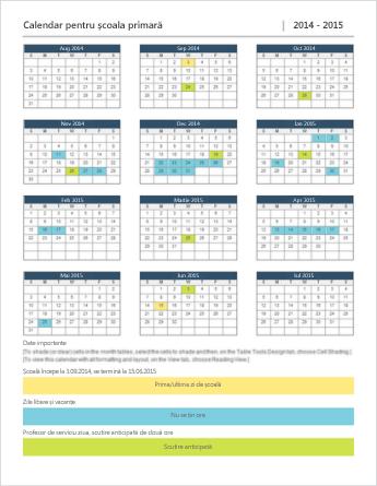 Șablon de calendar