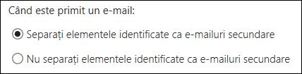 E-mailuri secundare în Outlook pe web