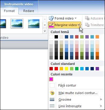 Modificarea culorii unui videoclip