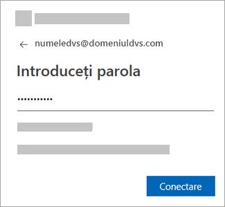 Introduceți parola contului de e-mail.