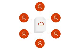 Lucrul în echipă în Office 365.
