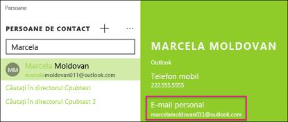Persoana de contact trebuie să aibă o adresă de e-mail validă