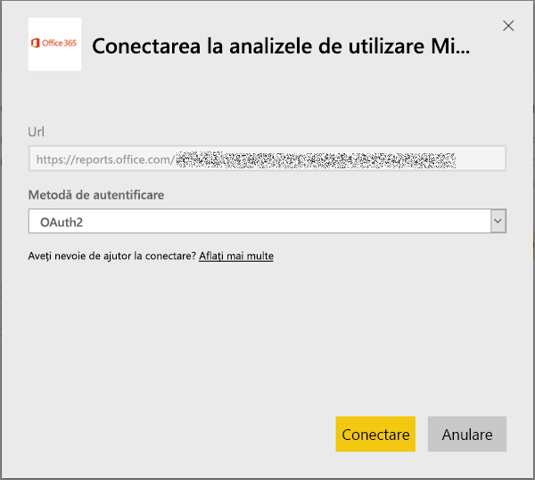 Alegeți oAuth2 ca metodă de autentificare