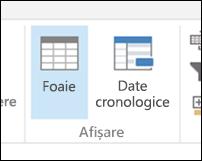 Vizualizare date cronologice