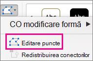 Edit Points button on the Edit Shape menu