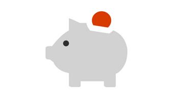 Ilustrație cu o bancă de porc