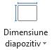 Pictograma de dimensiune diapozitiv
