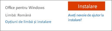 Opțiuni de limbă și instalare pentru Office 365