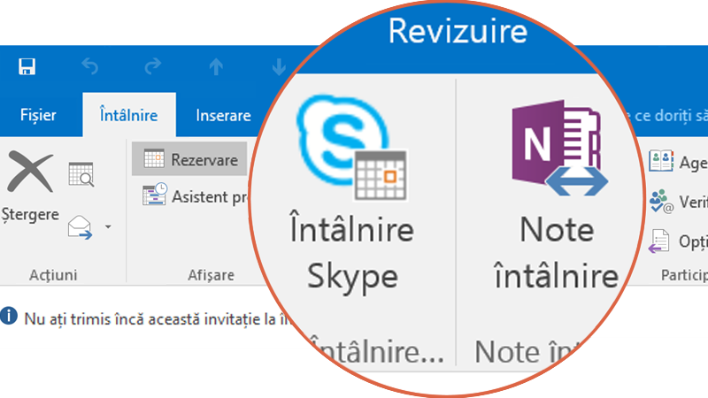 Colaborați cu Skype și OneNote