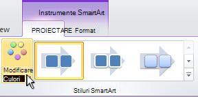 Modificarea culorii Ilustrația SmartArt.