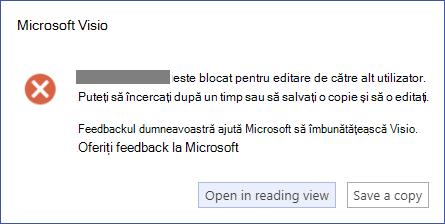 O casetă de mesaj care descrie o eroare de blocare.