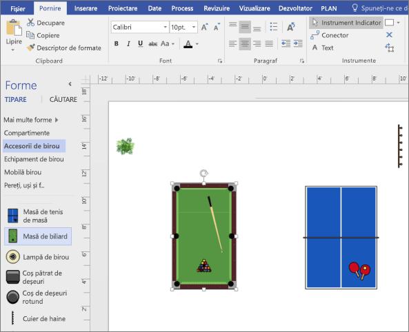Glisați o formă rezervor de tabel în pagină