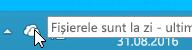 Captură de ecran care afișează pictograma OneDrive albă în Windows 8.1.