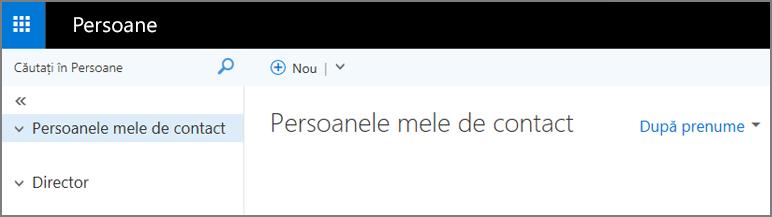 O imagine cu aspectul paginii Persoane din Outlook Web App