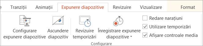 Debifați caseta de selectare Redare narațiuni pe fila expunere diapozitive