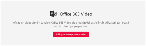 Parte web Office 365 Video