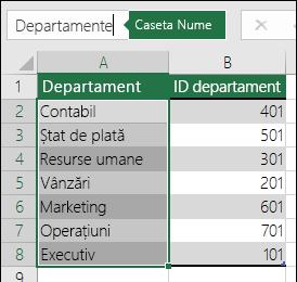 Introduceți un nume semnificativ pentru listă în caseta nume