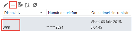Eliminare telefon din Outlook Web App