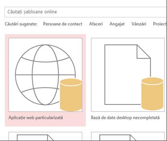 Butonul aplicației web particularizate din ecranul de pornire.