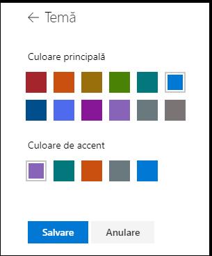 Particularizarea culorilor temei SharePoint site